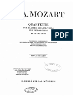 Mozart Piano quartet in G minor - Cello part (Henle)