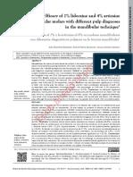 Efficacy of Lidocaine and Articaine in mandibular molar REV UDA 2018