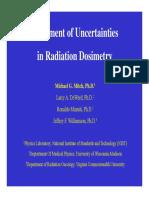 Treatment of Uncertainties in Radiation Dosimetry
