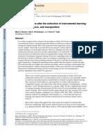 Bouton Et Al. 2012. Relapse Processes After Extinction