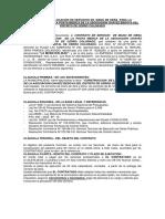 Contrato de Locación de Servicios de Mano de Obra Para La Construcción de La Posta Medica de La Asociacion Chavez Bedoya Del Distrito de Cerro Colorado