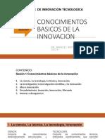 Sesión01- Conocimientos Basicos de Innovación
