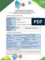 Guía de Actividades y Rúbrica de Evaluación - Fase 5 - Evaluación y Articulación de Procesos