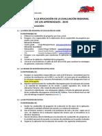 Protocolo de La Evaluacion Regional Aprendizaje 2019