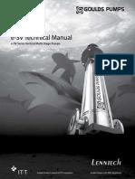 Goulds Technical Manual Esv l