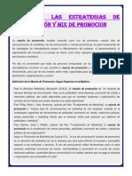 Diseño de Las Estrategias de Comunicación y Mix de Promocion