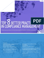 Top 8 Better Practices in Compliance Management