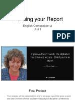 EC2 5 Planning Your Report