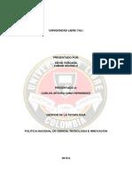 Ensayo Politica Nacional de Tecnologia e Innovacion.docx