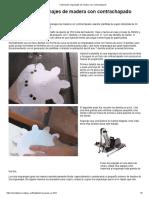 Fabricando Engranajes de Madera Con Contrachapado