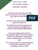 Mensaje de Mario de Andrade