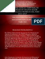 Variabilidad Espacio-Temporal de Las Denuncias de Delitos Del Peru 2013-2017