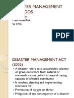 Disaster Management Methods