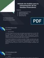 Método de Análisis Para La Interpretación de Los Estados Financieros.