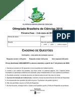 Obc 2018 Primeira fase