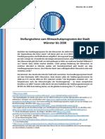 Stellungnahme Handlungsprogramm 2030