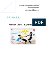 Primark Expansion Into China