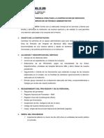 Terminos de Referencia - Modelo