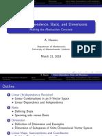 Teoría de bases y dimensiones