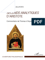 De AQUINO T. - Commentaire Des Second Analytiques d'Aristote