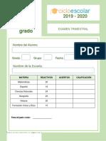 Examen Trimestral Cuarto Grado 2018-2019 (1)