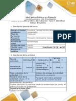 Guía de Actividades y Rúbrica de Evaluación-Fase 3- Identificar Diálogo de Saberes