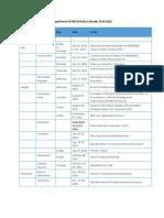 HRD Calendar 2019-20