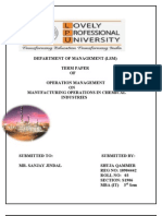 Operation Management Final Tp