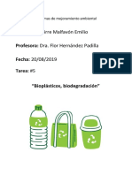 Bioplásticos, biodegradación