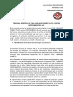 Tribunal Arbitral de Paul Yanjahir Gómez Plata Contra Hidroamerica s