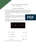 Deduccion de La Segunda Ley de Kepler