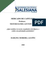 Teoria Cuantitativa Del Dinero-darling Moreira-1860