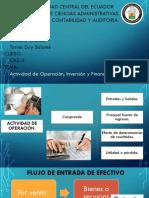 Actividad de Operación, Inversión y Financiamiento.