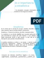 Definición e Importancia de La Estadística