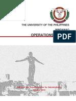 Operations Manual of UP Mindanao v3