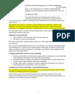 DeRue Et Al. (2010) Summary