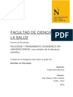 Felicidad y Rendimiento Académico en Trujillo, Perú