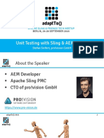 AdaptTo2016 Unit Testing With Sling and AEM Mocks Stefan Seifert