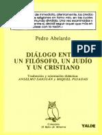 Abelardo, Pedro. - Dialogo Entre Un Filosofo, Un Judio y Un Cristiano [1988]