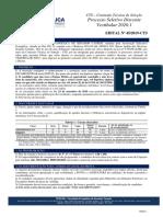 Edital 45 - 2019 Vestibular Agendado FESCAN 2020.1