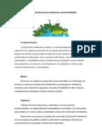 Educación Ambiental y Sustentabilidad
