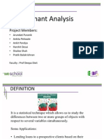 Modified ant Analysis