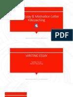 Modul Essay & Motivation Letter Klikcoaching
