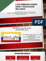 Normativa colombiana sobre la Atención a La Población Con Discapacidad en Colombia