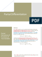 10 - Partial Differentiation