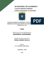 Tesis Analisis de Cambios de Cobertura y Uso de La Tierra Con Imágenes Satelitales Del Distrito d (1)