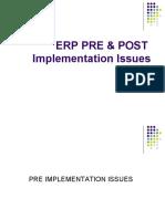 ERP PRE & POST Implementation Issues - Kinshu