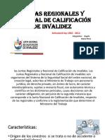 Juntas Regionales y Nacional de Calificación de Invalidez