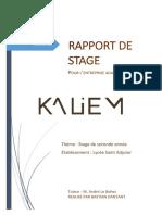 Rapport de Stage Kaliem 2018