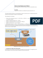 Field Density Test Calculation in Sand Replacement Method